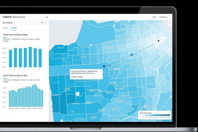La plate-forme Mouvement d'Uber va fournir des données aux services transport et urbanisme des villes.