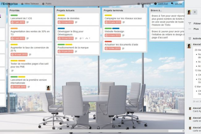 Avec Trello (ci-dessus), Atlassian ajoute un outil de collaboration visuelle à sa panoplie de fonctionnalités optimisant la productivité en équipe.