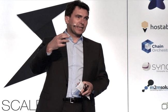 Nicolas Sekkaki, président d'IBM France, a inauguré la Scale Zone d'IBM le jeudi 2 février au siège social de Bois-Colombes de la filiale française. (crédit : MG)