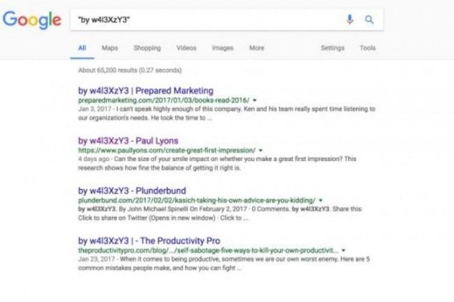 Le spécialiste en sécurité Sucuri explique que sur une seule attaque, qu'il a dénommée Campaign #1, Google montre plus de 66 000 pages compromises. (crédit : D.R.)