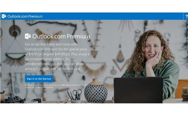 Moyennant 20$ (jusqu'à fin mars), les utilisateurs allergiques à la publicité vont pouvoir souscrire à la version premium d'Outlook.com.