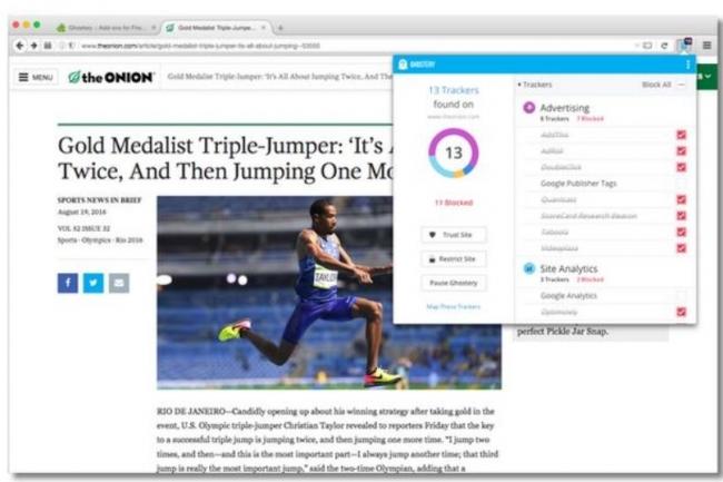 Racheté par Cliqz, le plug-in Ghostery -qui permet de bloquer les outils de pistage de l'utilisateur lors de la navigation Internet - devrait continuer à pouvoir s'utiliser avec Chrome.