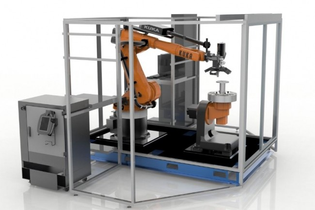 Les nouvelles machines industrielles Infinite-Build 3D Demonstrator et Robotic Composite 3D Demonstrator de Stratasys vont permettre aux fabricants de fabriquer des pièces de tailles presque illimitées plus solides, plus légères et mieux calibrées. (Crédit : Stratasys)