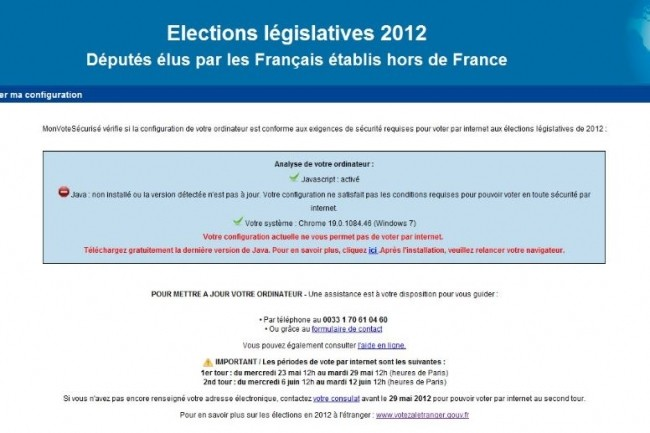 Contrairement à 2012, les Français de l'étranger ne pourront pas voter en ligne aux élections législatives. (crédit : D.R.)
