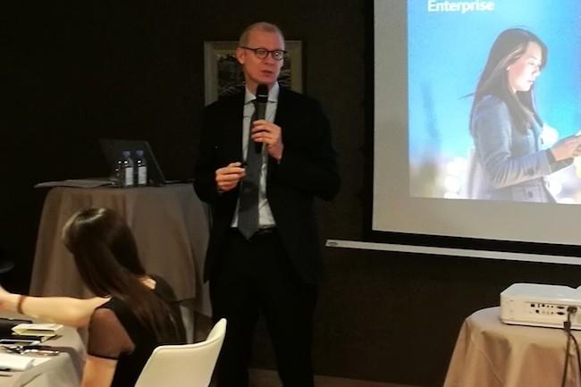 Gilles Thiebaut est arrivé le 1er novembre 2016 à la tête de HPE France, en remplacement de Gérald Karsenti. (crédit : LMI/SL)