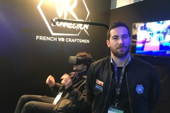 Alexandre Ibanez (en photo), a co-fondé avec Ian Toulec le GIE VR Connexion qui vise à faire rayonner la VR française à travers le monde. (crédit : O.B.)