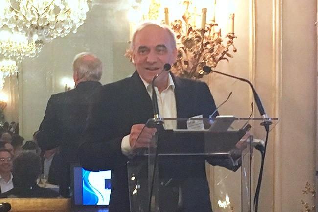 Stéphane Grasset, le président du CDRT, a tenue à revenir sur la fin du RTC lors du dîner célébrant les 5 ans d'existence du club. (Crédit O.B.)
