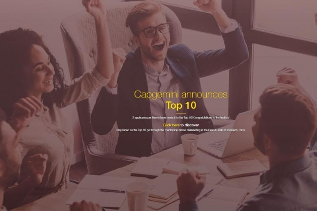 Le concours international InnovatorsRace50 lancé à l'initiative de Capgemini permettra à 5 start-ups lauréates de décrocher une dotation de 50 000 dollars. Crédit: D.R.