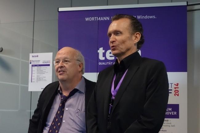 Siegbert Wortmann PDG de Wortmann AG, et Ben Gayer, directeur de Terra Computer France. (Crédit S.L.)