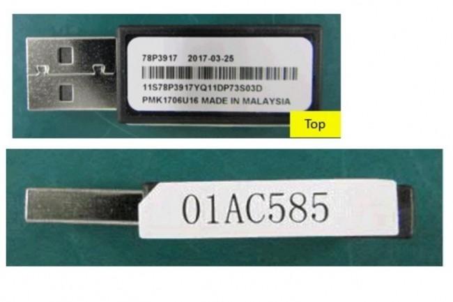 Modèle de clé USB fourni par IBM dans lequel un malware a été détecté. (crédit : IBM)
