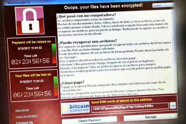 Un message de ransomware s'est propagé vendredi matin sur les postes des employés de Telefonica en Espagne. (crédit : D.R.)