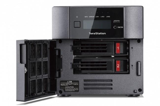 Le NAS TerraStation 5210 DF de Buffalo Technology est pourvu de deux baies pouvant accueillir des SSD.