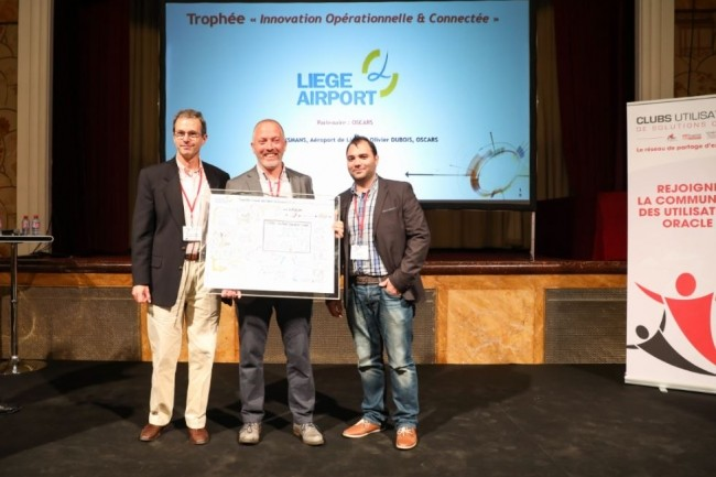 L'Aéroport de Liège a gagné le Trophée des Trophées des clubs d'utilisateurs Oracle. (crédit : AUFO)