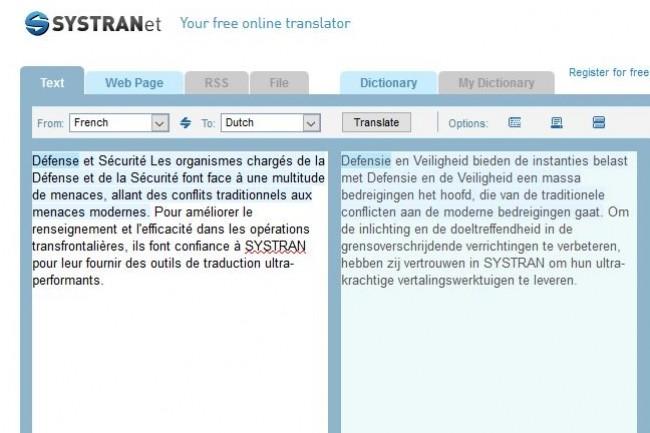 Depuis les années 80, la R&D de Systran, dont la technologie est utilisée notamment par le ministère de la Défense, a développé plus de 140 paires de langues de traduction automatique. (crédit : D.R.)