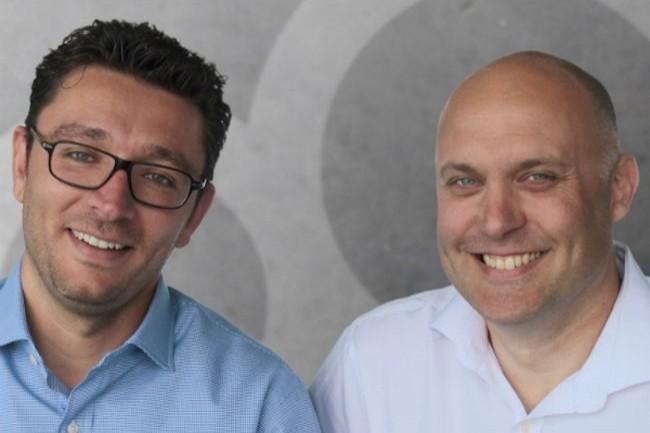 Lazhar Sellami (à gauche) et Sébastien Thomas ont co-fondé Datagalaxy en mai 2015. Crédit photo : D.R.