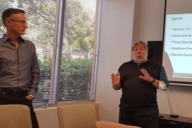 Lance Smith et Steve Wozniak à Sunnyvale chez Primary Data pour détailler la solution Datasphere.