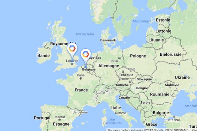 Après Bruxelles et avant Francfort, Google Cloud Platform s'installe à Londres. (crédit : D.R.)
