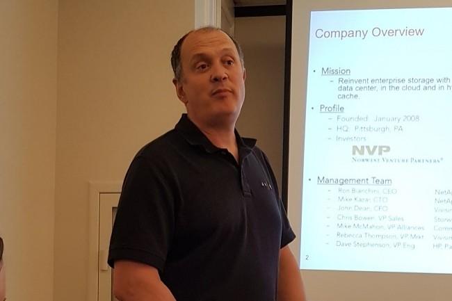 La solution d'Avere Systems combine des données mises en cache localement dans des appliances flash avec un stockage objet (à faible coût donc) hautement disponible dans le cloud, nous a indiqué le CEO de la société, Ronald Bianchini. (Crédit S.L.)
