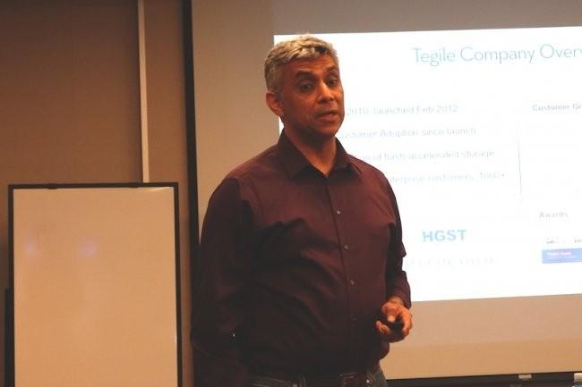 Rohit Kshetrapal, CEO et fondateur de Tegile, que nous avions rencontré en 2014 à Newark. (Crédit S.L.)