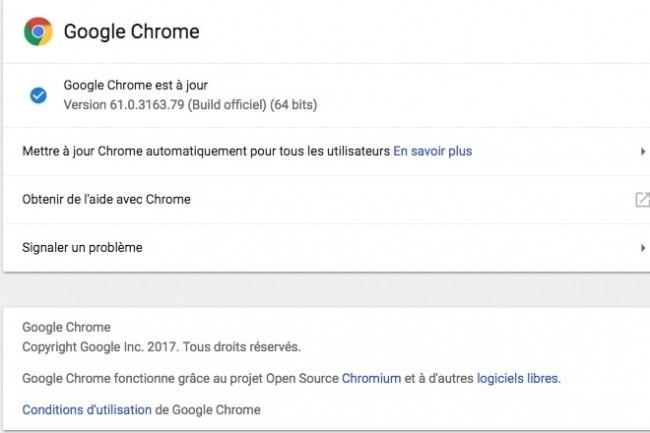 22 failles sont corrigées dans Chrome 61 qui inaugure également le support de WebUSB.