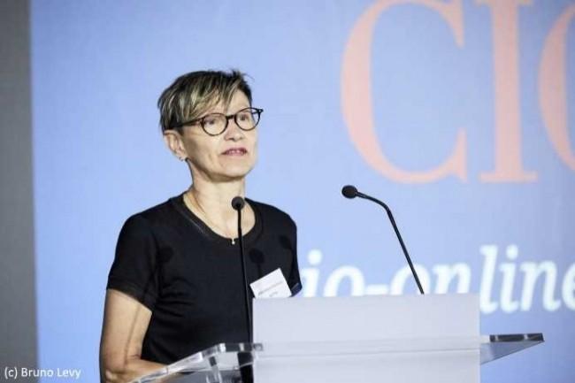 Véronique Pachoud Le Floch, DSI d'Alptis, présente sa démarche agile lors de la conférence CIO du mois de juin dernier. (Crédit D.R.)