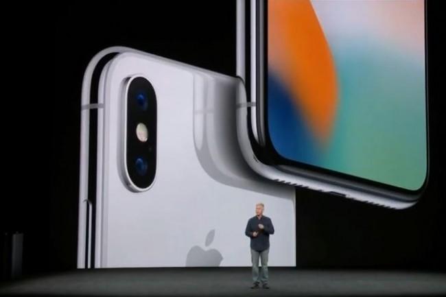 L'iPhone X présenté le 12 septembre par Apple. (crédit : D.R.)