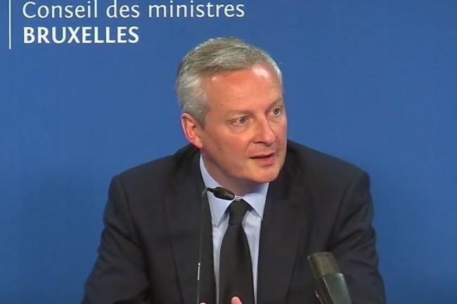 Bruno Le Maire, ministre de l'Economie et des Finances, bataille pour faire éclore un projet de taxation des GAFA au niveau européen. (crédit : D.R.)