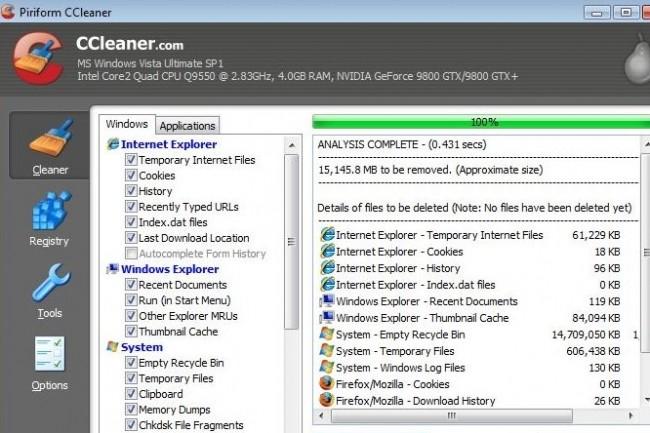 CCleaner, édité par Piriform, appartient depuis juillet dernier à Avast suite à son rachat par ce dernier. (crédit : D.R.)