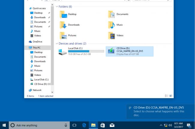 Microsoft pousse les entreprises à adopter la Spring Creators Update (1703) de Windows 10. (Crédit D.R.)