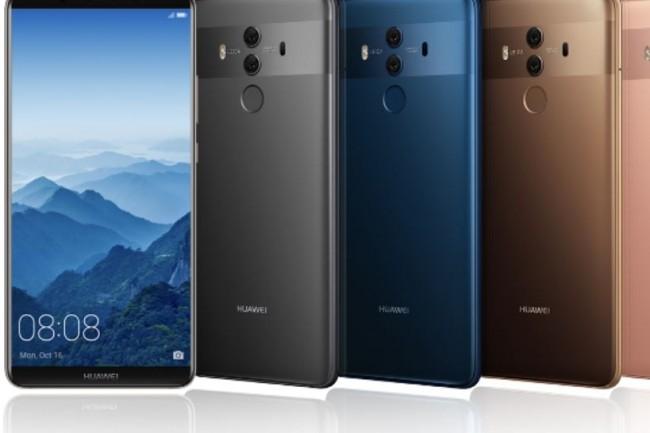 Le Mate 10 Pro de Huawei sera disponible en France dès novembre au prix  de 799 euros. Crédit. D.R.