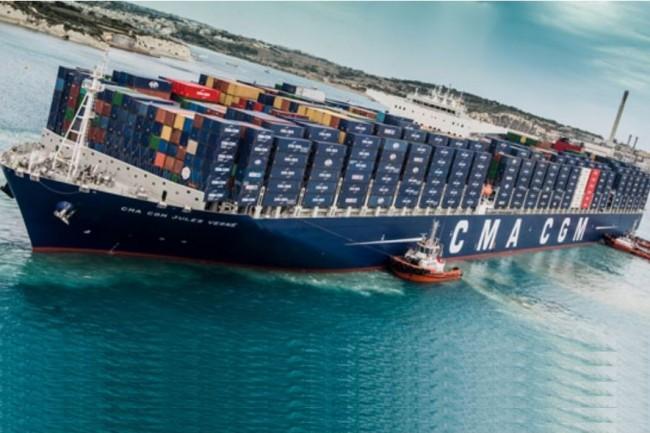 En 2016, la compagnie maritime CMA CGM a transporté 15,6 millions de conteneurs dans le monde. (Crédit : D.R.)
