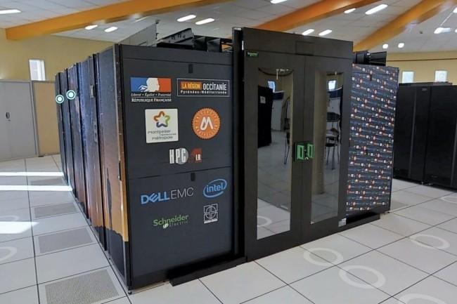 Le cluster HPC de l'Université de Montpellier recèle 308 serveurs Dell EMC basés sur des Xeon E5 et 1,3 petaoctet de capacités de stockage. (Crédit : D.R.)