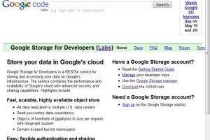Google I/O 2010 : Un  service de stockage en ligne pour les développeurs