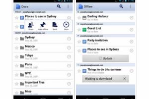 Google Docs pour Android consultable hors ligne