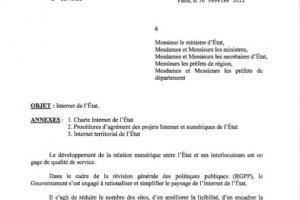 La Charte Internet de l'Etat a été publiée par le gouvernement