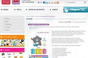 La région Midi-Pyrénées publie son DiagnosTIC
