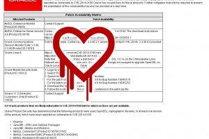 Heartbleed : Oracle livre d�j� 7 correctifs OpenSSL et en pr�pare d'autres