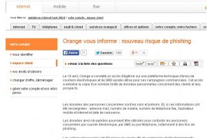 Le vol de donn�es clients d'Orange r�v�le une menace plus large