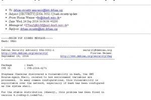 Plus grave que Heartbleed, la faille Shellshock affecte l'interpr�teur bash de GNU/Linux et Mac OS X