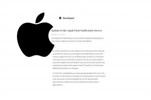 Notifications push : Apple arr�te de supporter SSL 3.0