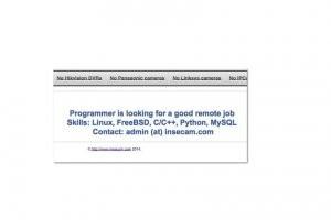 Le d�veloppeur du site Insecam chercherait du travail