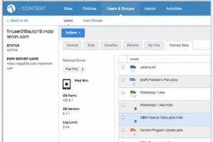 MobileIron encadre le shadow IT avec Content Security Service
