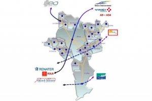 Les travaux du TGV � N�mes apportent le THD � Vilmorin
