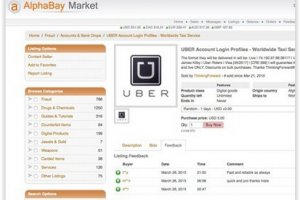 Des comptes Uber pirat�s revendus 1 � 5 $