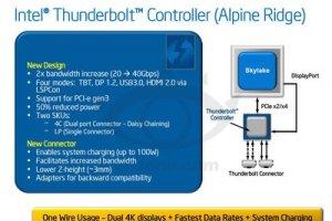 Thunderbolt 3.0 d�taill� par Intel au prochain Computex
