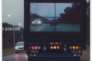 Samsung pr�sente un prototype de camion (presque) transparent