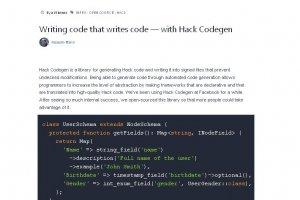 Facebook met en Open Source un éditeur de code qui écrit du code