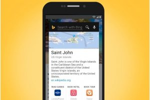 Microsoft devance Google avec Snapshots Bing Search pour Android