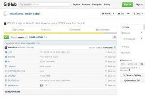 Sur GitHub, un projet relie Cobol et Node.js