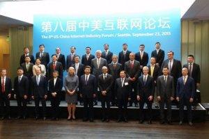 Belle brochette de dirigeants IT am�ricains autour du pr�sident Xi Jinping